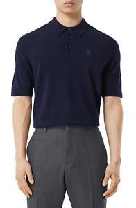 BURBERRY Burnham TB Monogram Short Sleeve Cashmere Polo Shirt 8029245 MSRP$590