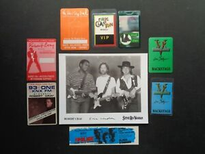 VAUGHAN,CLAPTON,CRAY,B/W Promo Photo,7 Original,Backstage Passes,Ticket