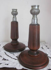 Unbranded Wooden Candle Candlesticks