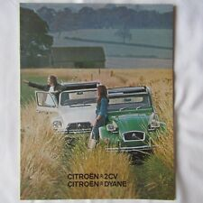 CITROEN 2CV 2CV6 DYANE WEEKEND Original UK Market Car Sales Brochure 1975