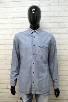 Camicia GAP CLASSICS FIT Uomo Taglia M Maglia Polo Shirt Cotone Hemd Righe Blu