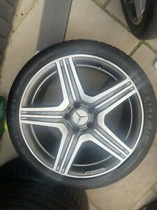 """Genuine mercedes Cls63 Amg 19"""" alloy Wheels And Tyres."""