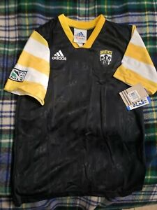 Vintage Authentic Adidas Columbus Crew MLS Football Soccer Jersey New Tag Sz L