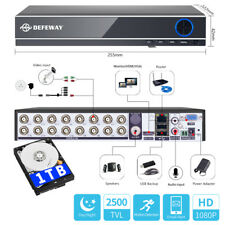 1080P 16CH 5in1 Motion Email P2P DVR 2500TVL CCTV Security Video Recorder 1TB