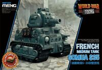 Meng Model WWT-009 Somua S35 French Medium Tank World War Toons (Q Edition) Hot