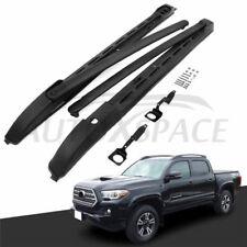 Black Roof Rail & Crossbars Rack Kit Fit 2005-2018 Toyota Tacoma Double Cab