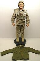 "1992 Hasbro Duke 12"" G.I. JOE Scar Blonde Hair ACTION FIGURE Stand/Extra Jacket"
