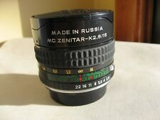Fisheye Lens - MC  Zenitar-K (Pentax bayonet) f2.8 16mm - Used perfect condition