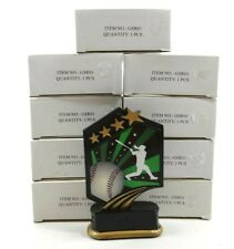 Qty 9 Baseball Trophies - New in Boxes 5""