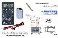 12V Negative ion Generator Plasma ionizer Module w Power Density Test Meter Kit
