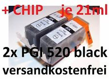 2 Tintenpatronen CANON mit Chip PGI-520 bk black MP 990 MX 860 MX 870 NEU