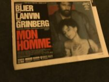 1997 VINTAGE 6X8 MOVIE PROMO PRINT Ad FOR MON HOMME GERARD LANVIN,ANOUK GRINBERG