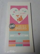 Papertrey Ink Foldable Envelope Wraps Love You To Pieces Girls Paper Pack A4027