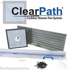 ClearPath Curbless Shower Pan System up to 48 x 96 ABS or PVC Drain
