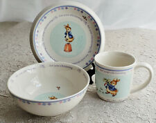 Wedgwood Peter Rabbit Christening Baby Cup Bowl Plate Frederick Warne 2002