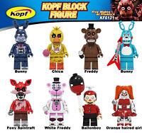 8 Pcs Minifigures Five Night At Freddy's set Bunny Chica Freddy FOXY lego MOC