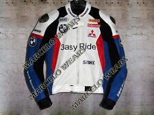 BMW Leon Haslam 3 asy Ride Motorcycle Motorbike Bikers Leather Racing Jacket