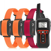 Dog Training Collar Rechargeable Remote Control Waterproof Anti Bark Trainer