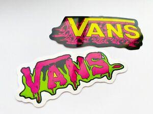 Vans Graffiti Style Stickers 2 Pack - Skateboard Stickers -NEW-