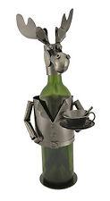Wine Bottle Holder Metal Moose Waiter Character