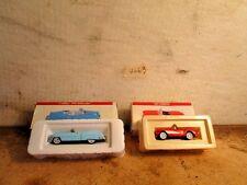 1953 53 Cadillac Eldorado model car and 1957 57 Corvette model car GM die cast