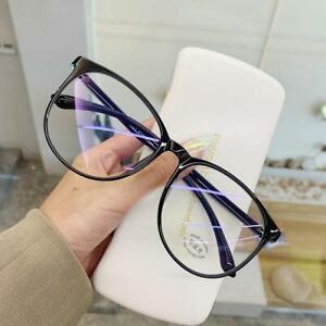 Transparent Computer Glasses Frame Women Men Anti Blue Light Round Eyewear Block