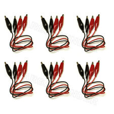 2 To 12 Pcs 20 Double Ended Alligator Clips Test Lead Jumper Wire Red Black