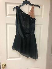 Sharene Figure Skating Dress Size Ladies Large. Black Shimmer Velvet.