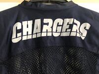 Chargers Football Jersey Shirt Youth Size S 34-36 Blue Practice Mesh Athletic