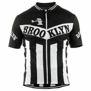 Retro BROOKLYN Cycling Jersey Pro Clothing Short Sleeve Bike MTB Vintage Gear
