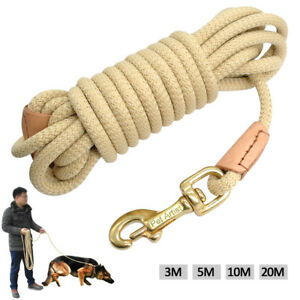 10/16/33ft Nylon Dog Leash Rolled Training Obedience Rope Durable Tracking Leash