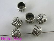 45 pcs Tibetan silver dotted bowl bead caps A8046