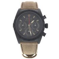 Tudor Fastrider Shield Black Dial Chrono Ceramic Mens Watch 442000CN-ALCANTARA