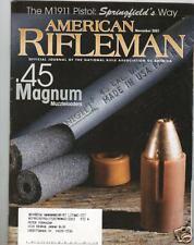 AMERICAN RIFLEMAN...NOVEMBER 2001..SPRINGFIELD M1911