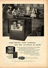 1951 DuMont  PRINT AD Vintage Television Model Westbury Series II Family Home