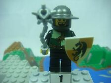 LEGO Kingdoms Dragon Knight Quarters Helmet W Broad Brim Missing Tooth #2 NEW