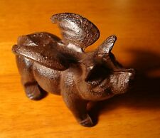FLYING PIG Figurine Rustic Country Primitive Farm House Cast Iron Home Decor NEW