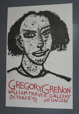 Original signed Gregory Grenon - The Unidentified Woman 1993 - POSTER