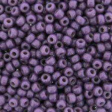 Miyuki Round Seed Beads Size 8/0 DURACOAT Opaque Dark Purple 24gm-Tube 8-4490