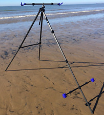 Lineaeffe Deluxe Tripod System Sea fishing 2 Rod Beach Tripod Fishing Tackle