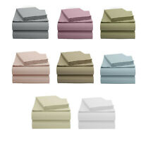 EnvioHome Luxury Hotel Quality 100% Organic Cotton Bed Sheet Set 4 Piece 300TC