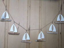 Driftwood Boat Garland  Yacht  Bunting   FREE POST  NEW   Nautical Bunting