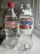 Coca Cola Clear Crystal Pepsi Limited Edition Japanese American Soft Drinks Rare