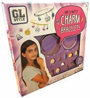 Children's Girls Mix & Match Charm Bracelets Make Your Own Jewellery Craft Kit