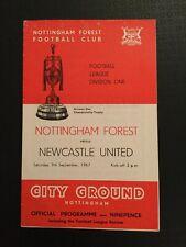 Nottingham Forest v Newcastle United 09/09/1967