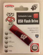 Wisconsin Badgers Slim Collegiate 4Gb Usb Flash Drive
