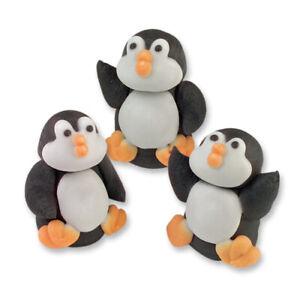 6 Zuckerfiguren Pinguin Pinguine Tortendeko Tiere Kuchen Cake Zoo