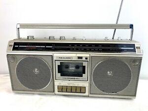 Vintage Realistic SCR 10 AM/FM Cassette Player Boombox Retro 80's Radio Works