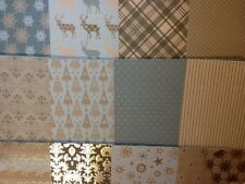 12 SHEET TASTER PACK 8 x 8 DOVECRAFT MAGIC & SPARKLE CHRISTMAS CARD MAKING PAPER