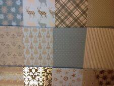 12 foglio di degustazione Confezione 8 x 8 Dovecraft Magic & Sparkle cartolina di Natale la fabbricazione della carta